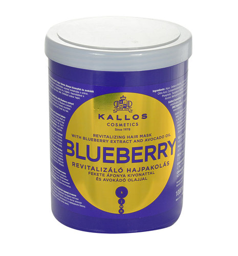 Image of Blueberry Hair Mask 1000Ml Mask For Dried And Damaged Hair Per Donna