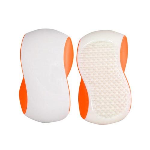 Image of Grip Brush 1Ks Big Hairbrush White Orange Per Donna