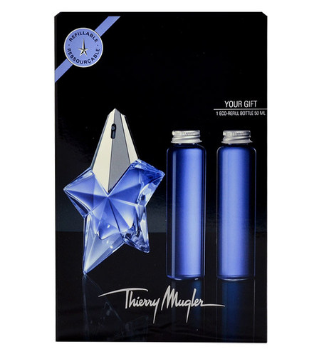 Image of Angel Edp 50Ml + 2X50Ml Edp Eco-Filling Without Spray Refillable 3X50Ml Per Donna
