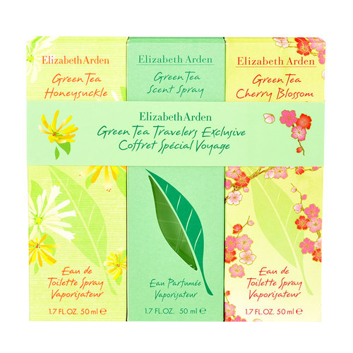 Image of Green Tea 3X50Ml Edp 50Ml Green Tea + 50Ml Edt Green Tea Honeysuckle + 50Ml Edt Green Tea Cherry Blossom Per Donna