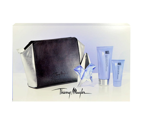 Image of Angel 25Ml Edp 25Ml + 100Ml Body Milk + 30Ml Shower Gel + Cosmetic Bag Refillable Per Donna