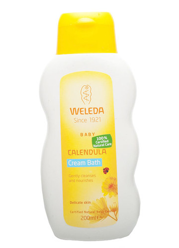 Image of Baby Calendula Cream Bath Marigold baby bath 200ml Per Donna