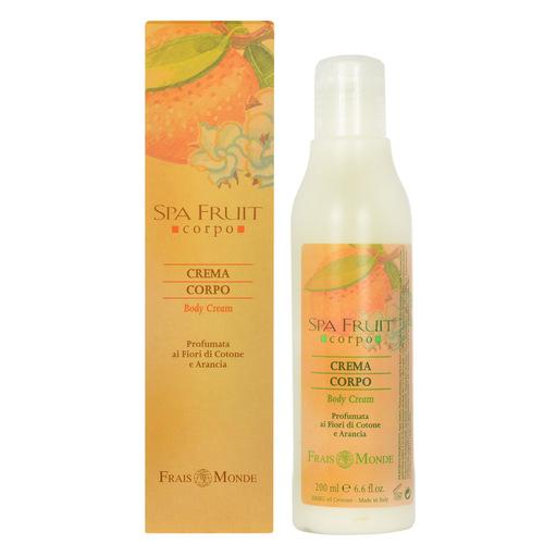 Image of Spa Fruit Body Cream Cotton Flower And Orange Cotton and orange 200ml Per Donna