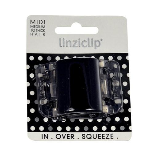 Image of Midi Hair Clip Hair Clip 1Ks Per Donna Black Translucent
