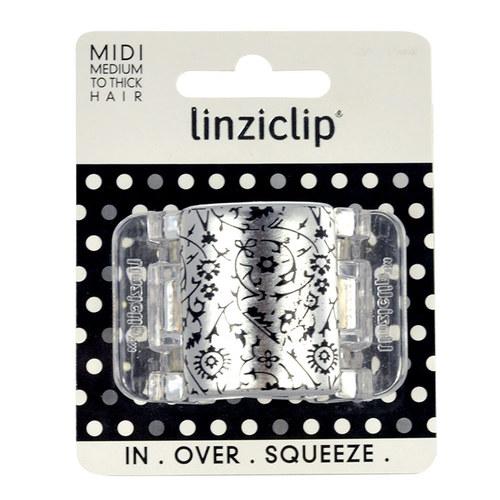 Image of Midi Hair Clip Hair Clip 1Ks Per Donna Metallic Floral Translucent