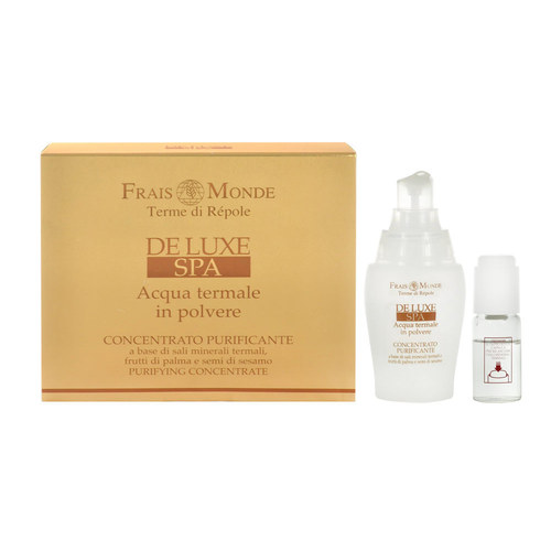 Image of Deluxe Spa Purifying Concentrate For skin cleansing 40 ml Natural active gel + 10 ml Water + 1 g Thermal mineral salts 50ml Per Donna