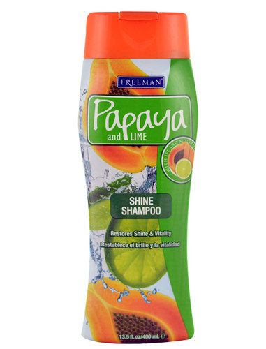 Image of Shine Shampoo Papaya And Lime For hair without shine 400ml Per Donna