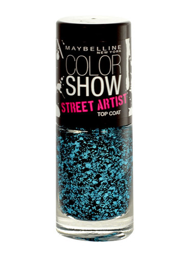 Image of Color Show Street Artist Top Coat 7Ml Per Donna 01 Boom Box Black