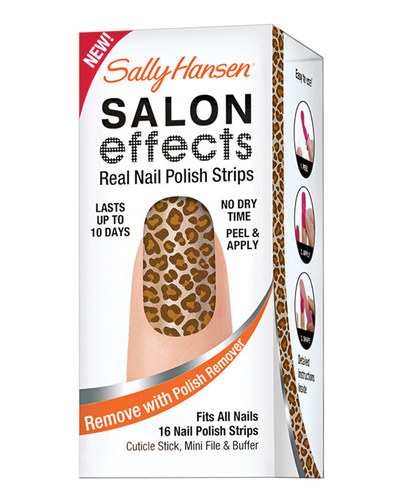Image of Salon Effects Nail Polish Strips 20G 16X Nail Polish Strips + Cuticle Stick + File For Quickly And Perfectly Groomed Nails 320 Kitty, Kitty Per Donna