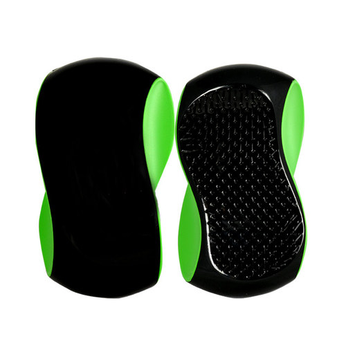 Image of Grip Brush 1Ks Big Hairbrush Black Green Per Donna
